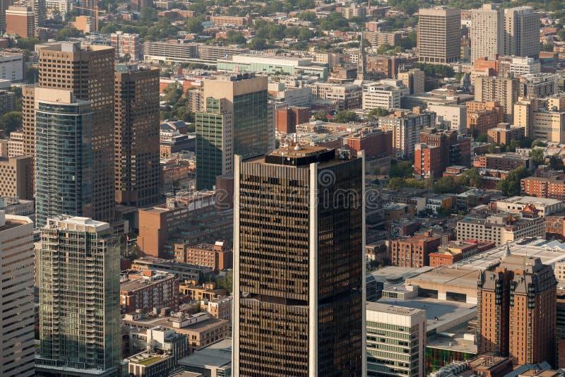 Montreal flyg- sikt royaltyfria bilder