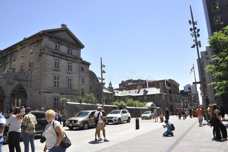 Montreal 26 giugno: Disponga il ` Armes di D da Vieux Montreal nel Canada immagine stock