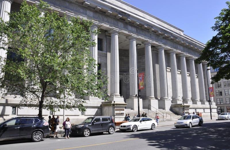 Montreal 26 giugno: Edificio di Appel de Justice del ` di Cour d da Rue Notre Dame di Montreal nel Canada immagine stock libera da diritti