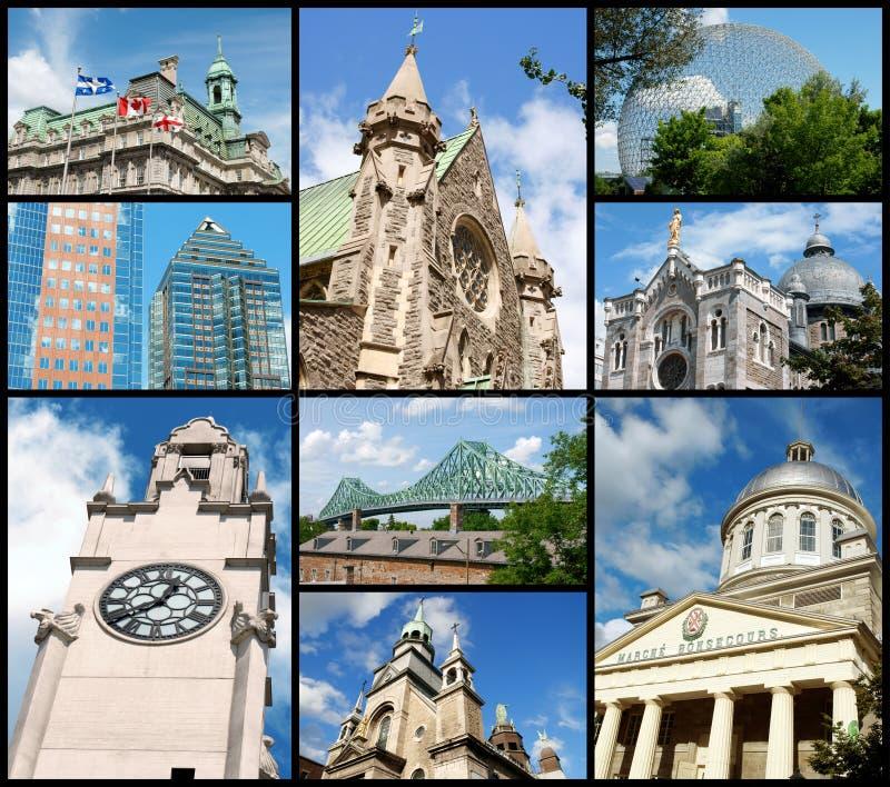 Montreal gränsmärken, Kanada fotografering för bildbyråer
