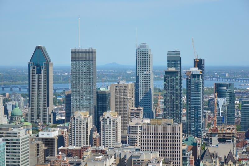 Montreal horisont i sommar fotografering för bildbyråer