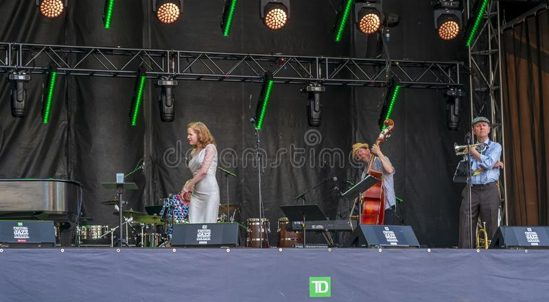 Show on TD Stage Montreal Jazz fest 2019. Montreal International Jazz Festival is an annual jazz festival held in Montreal, Quebec, Canada. The Montreal Jazz royalty free stock image