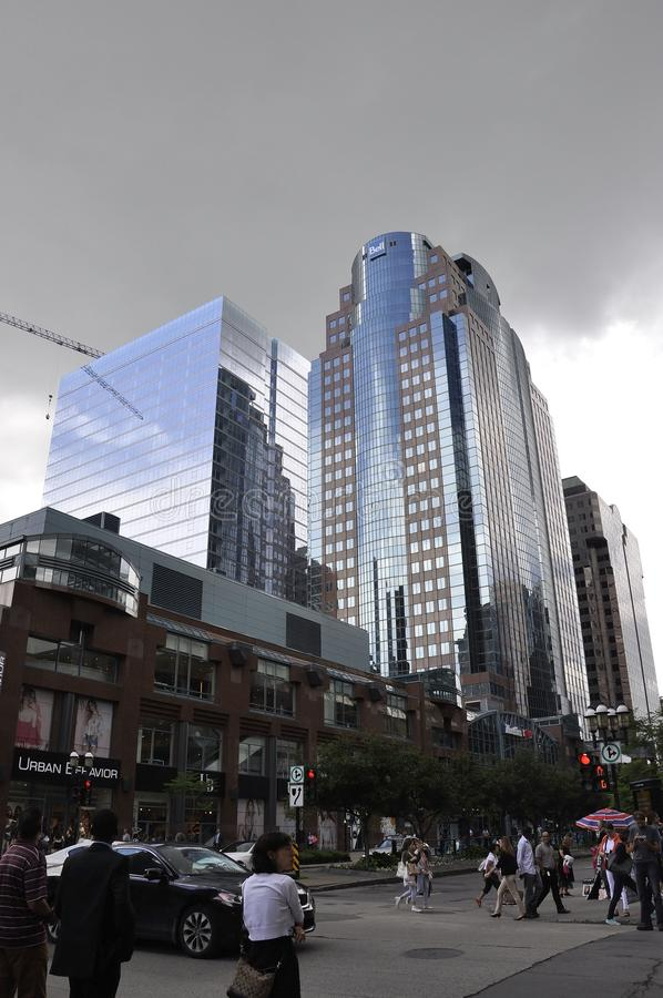 Montreal, 27 Juni: De het Vertrouwensbouw van Montreal van de stad in van Montreal stock afbeelding