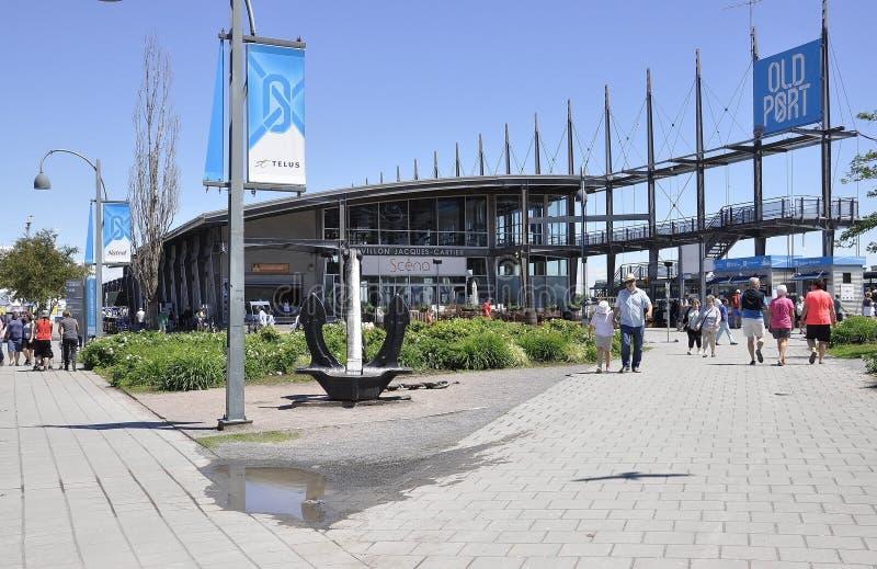 Montreal, 26 Juni: Paviljoen Jacques Cartier van Vieux-Haven van Montreal in Canada royalty-vrije stock afbeeldingen