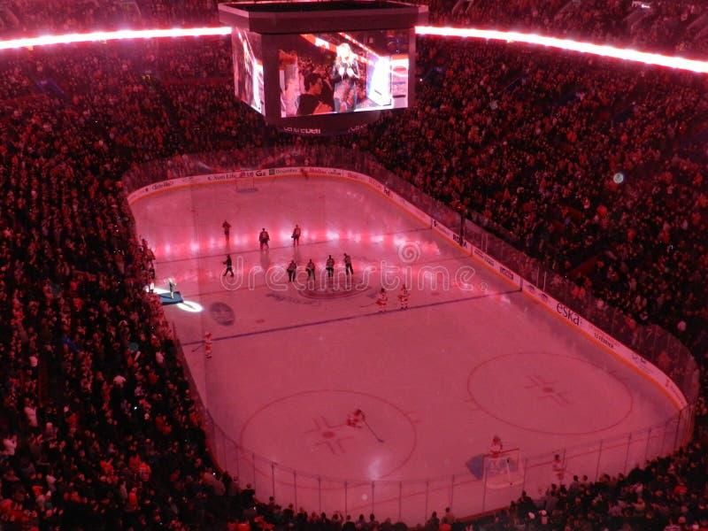 Montreal Kanada dom Canadiens Habs bawić się w centre Dzwonkowym centrum obraz royalty free
