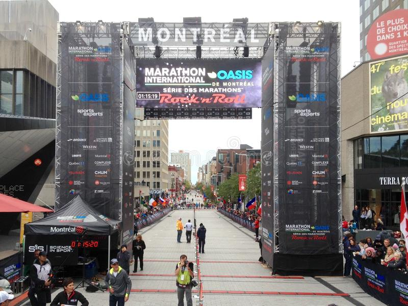 Montreal marathon editorial stock image  Image of season