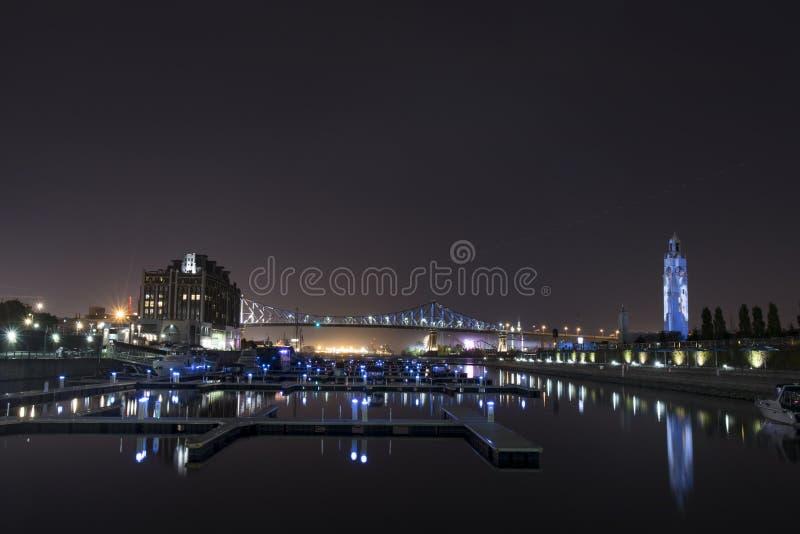 Montreal, margem de Canadá na noite imagens de stock royalty free