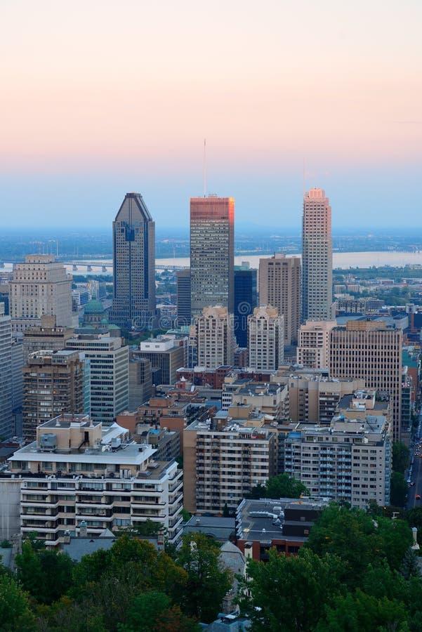 Montreal miasta linia horyzontu obraz stock