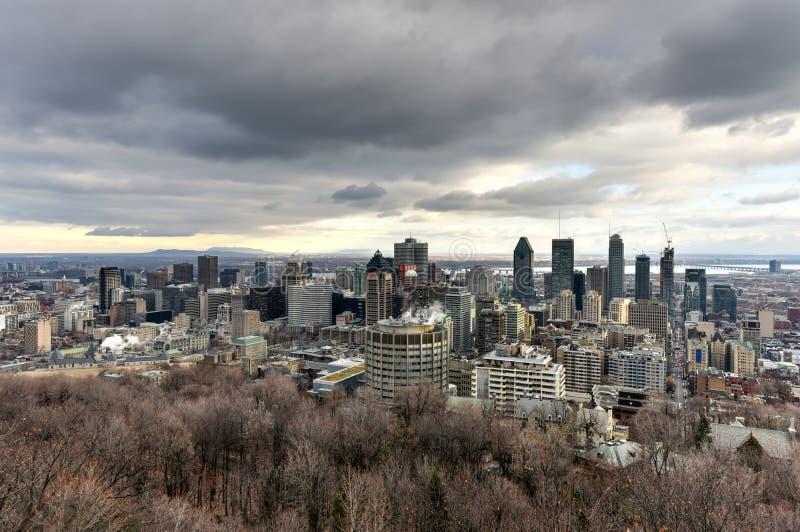 Montreal miasta linia horyzontu zdjęcia royalty free