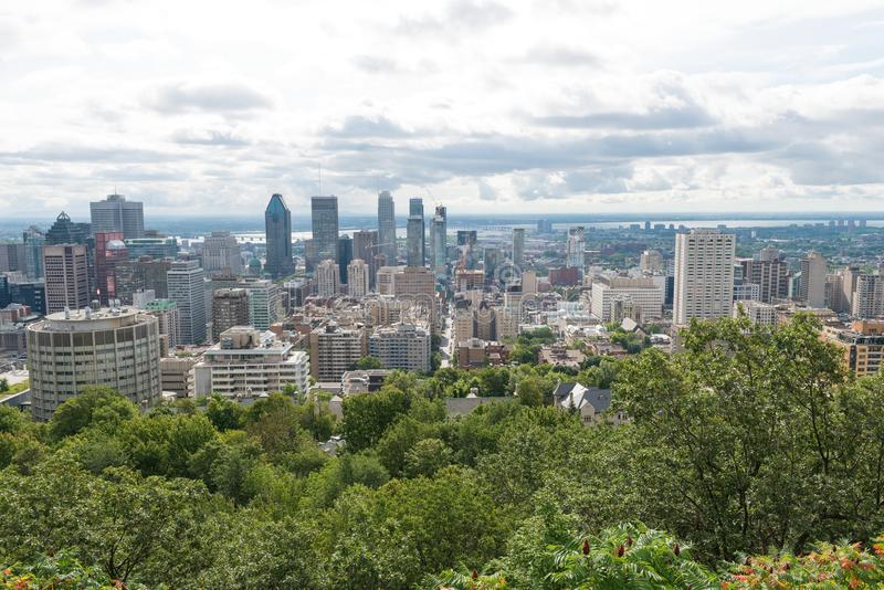 Montreal miasta linia horyzontu obrazy stock