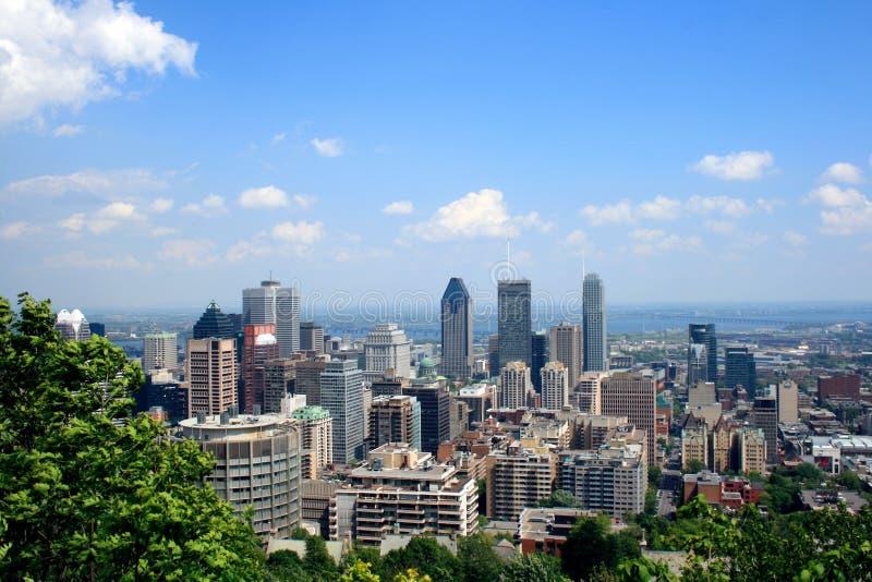Montreal Mont Royal Skyline, Kanada lizenzfreie stockfotografie