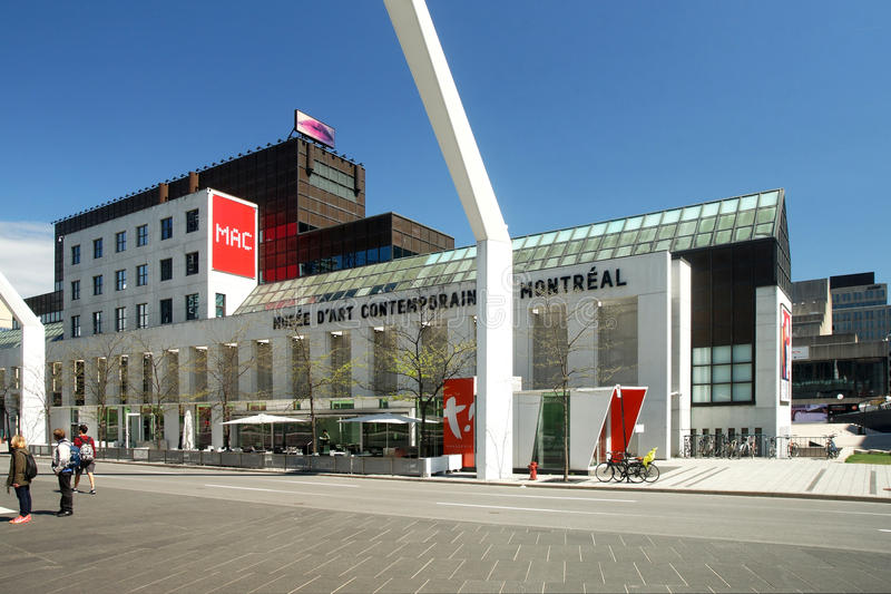 Montreal Museum of Contempory Art. In downtown Montreal,Quebec,Canada royalty free stock photography