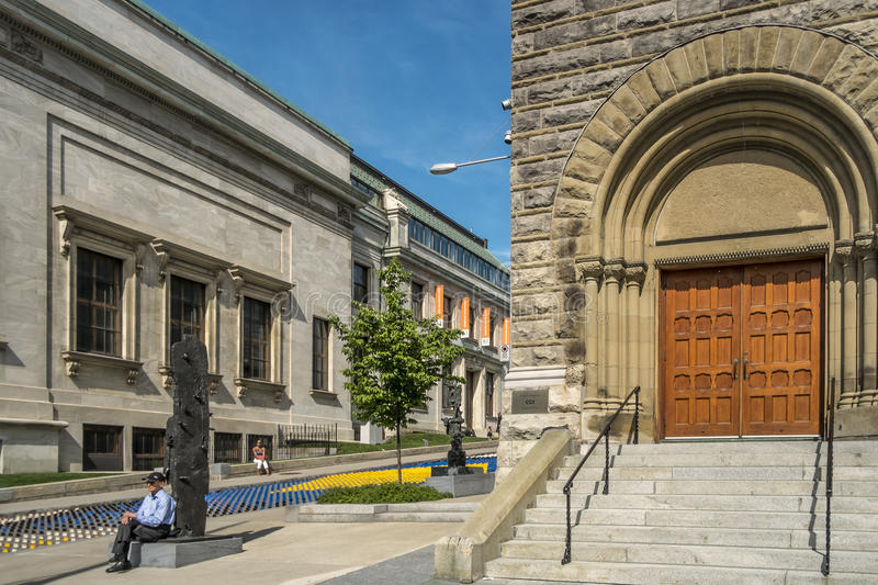 The Montreal Museum of Fine Arts MMFA royalty free stock images