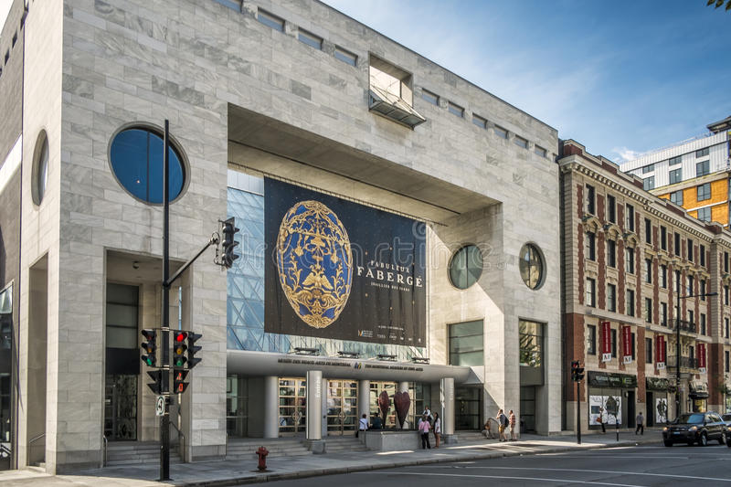 The Montreal Museum of Fine Arts MMFA. French: Musée des beaux-arts de Montréal is an art museum in Montreal, Quebec, Canada. It is Montreal`s largest stock photo