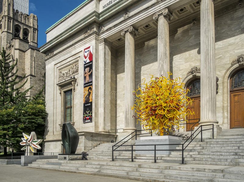 The Montreal Museum of Fine Arts MMFA. French: Musée des beaux-arts de Montréal is an art museum in Montreal, Quebec, Canada. It is Montreal`s largest royalty free stock images