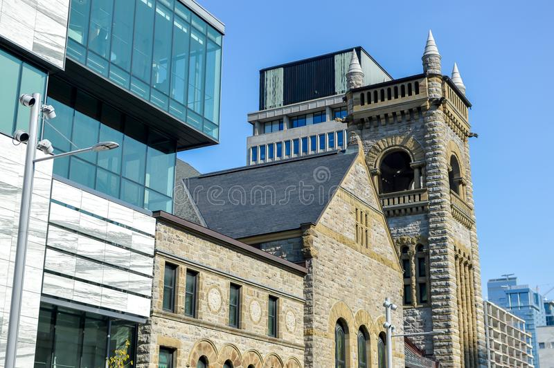 The Montreal Museum of Fine Arts. MMFA Jean-Noel Desmarais Pavilion It is Montreal`s largest museum and is amongst the most prominent in Canada royalty free stock image