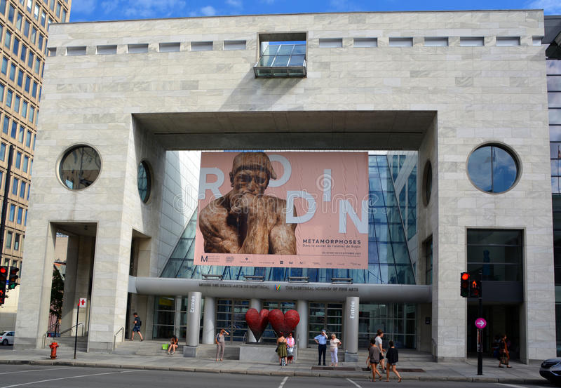 Montreal Museum of Fine Arts. MONTREAL QUEBEC CANADA 08 20 2015: The Montreal Museum of Fine Arts (MMFA) Jean-Noel Desmarais Pavilion It is Montreal's largest royalty free stock photos