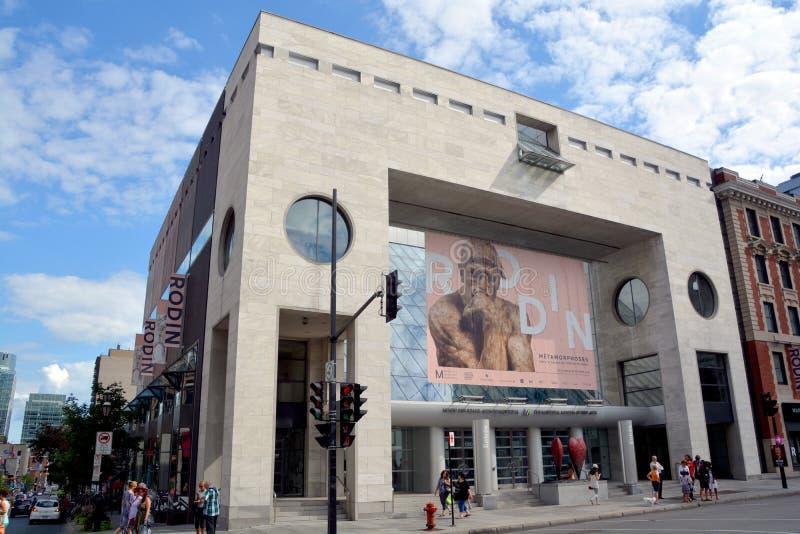 Montreal Museum of Fine Arts. MONTREAL QUEBEC CANADA 08 20 2015: The Montreal Museum of Fine Arts (MMFA) Jean-Noel Desmarais Pavilion It is Montreal's largest stock photo
