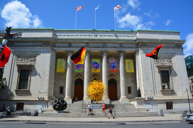 The Montreal Museum of Fine Arts. MONTREAL QUEBEC CANADA 08 20 2015: The Montreal Museum of Fine Arts MMFA Michal and Renata Hornstein Pavilion It is Montreal`s stock photo