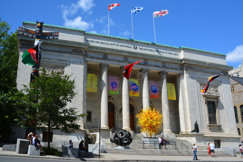 The Montreal Museum of Fine Arts. MONTREAL QUEBEC CANADA 08 20 2015: The Montreal Museum of Fine Arts MMFA Michal and Renata Hornstein Pavilion It is Montreal`s stock photography