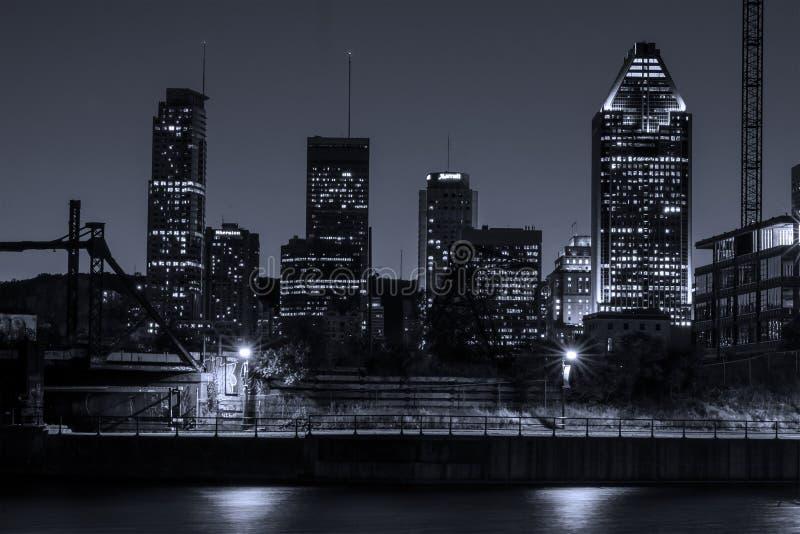 Montreal nattplats arkivbilder