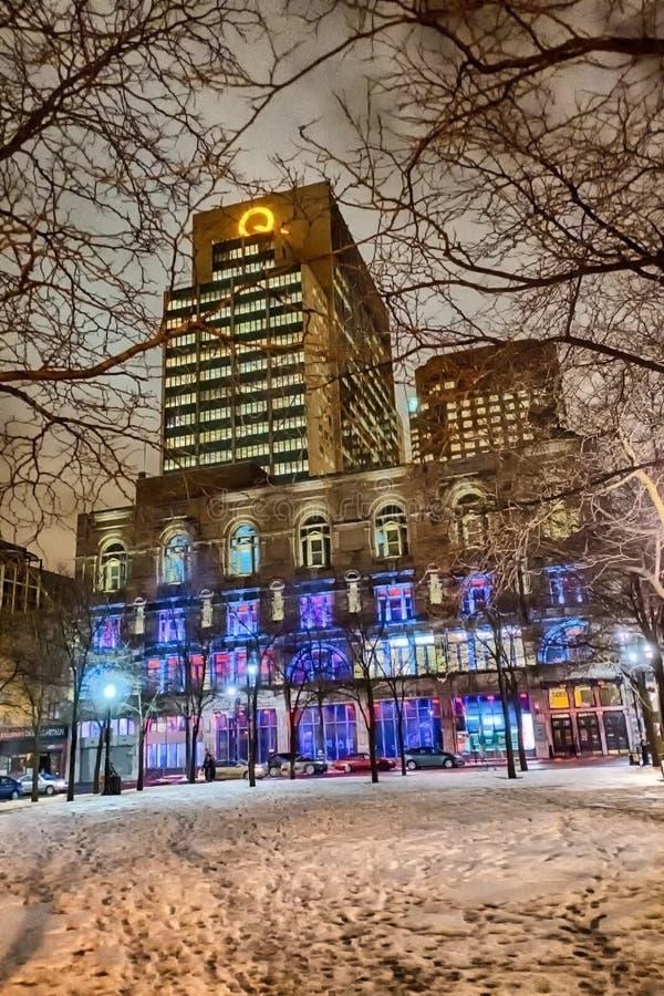 Montreal nattplats arkivfoto