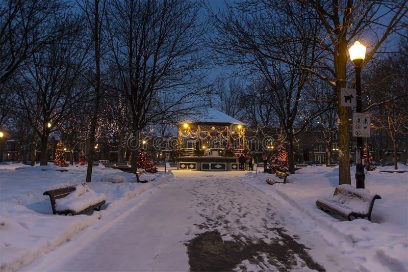 Montreal nattplats royaltyfria foton