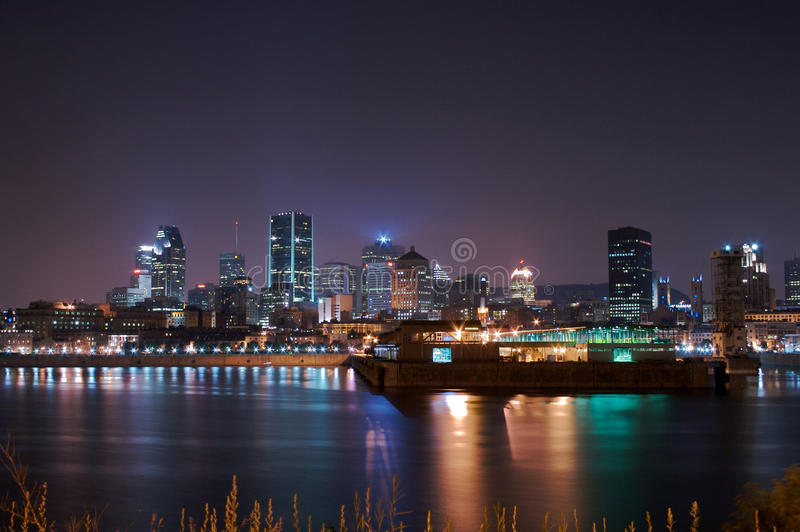 Download Montreal at Night stock photo. Image of downtown, building - 19726946