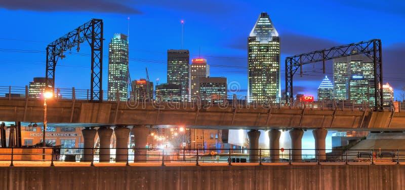 Montreal at night stock image