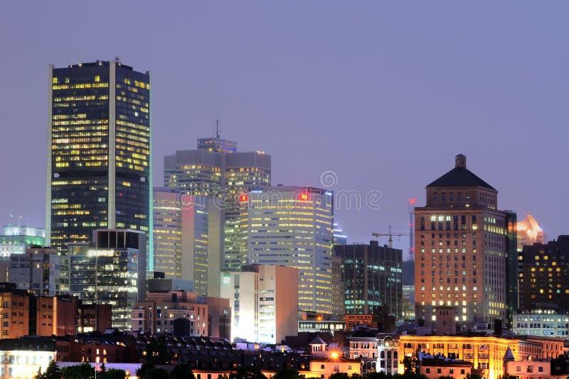 Montreal At Night Editorial Photo