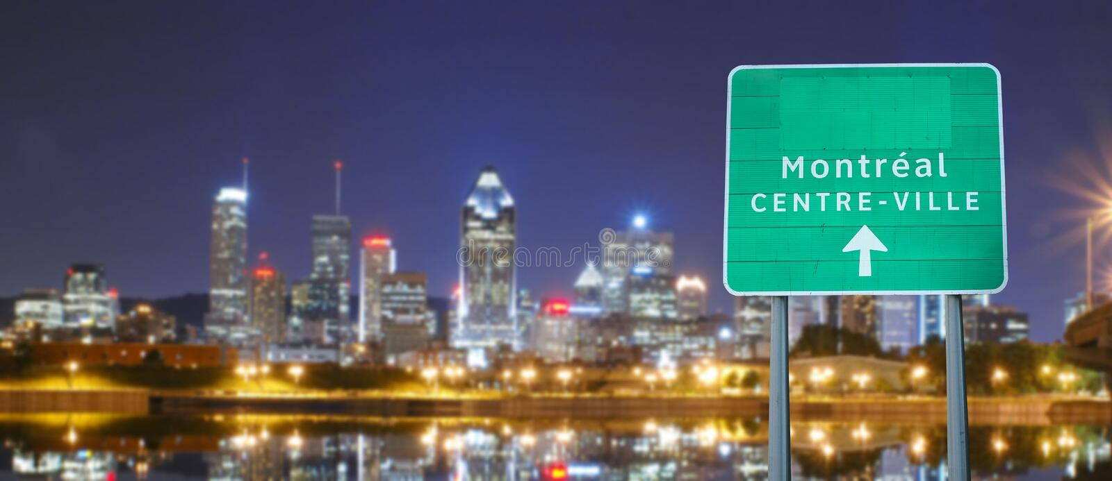Download Montreal by night stock image. Image of construction - 25769919