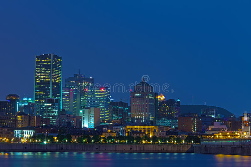 Download Montreal by night stock image. Image of night, blue, building - 26816347