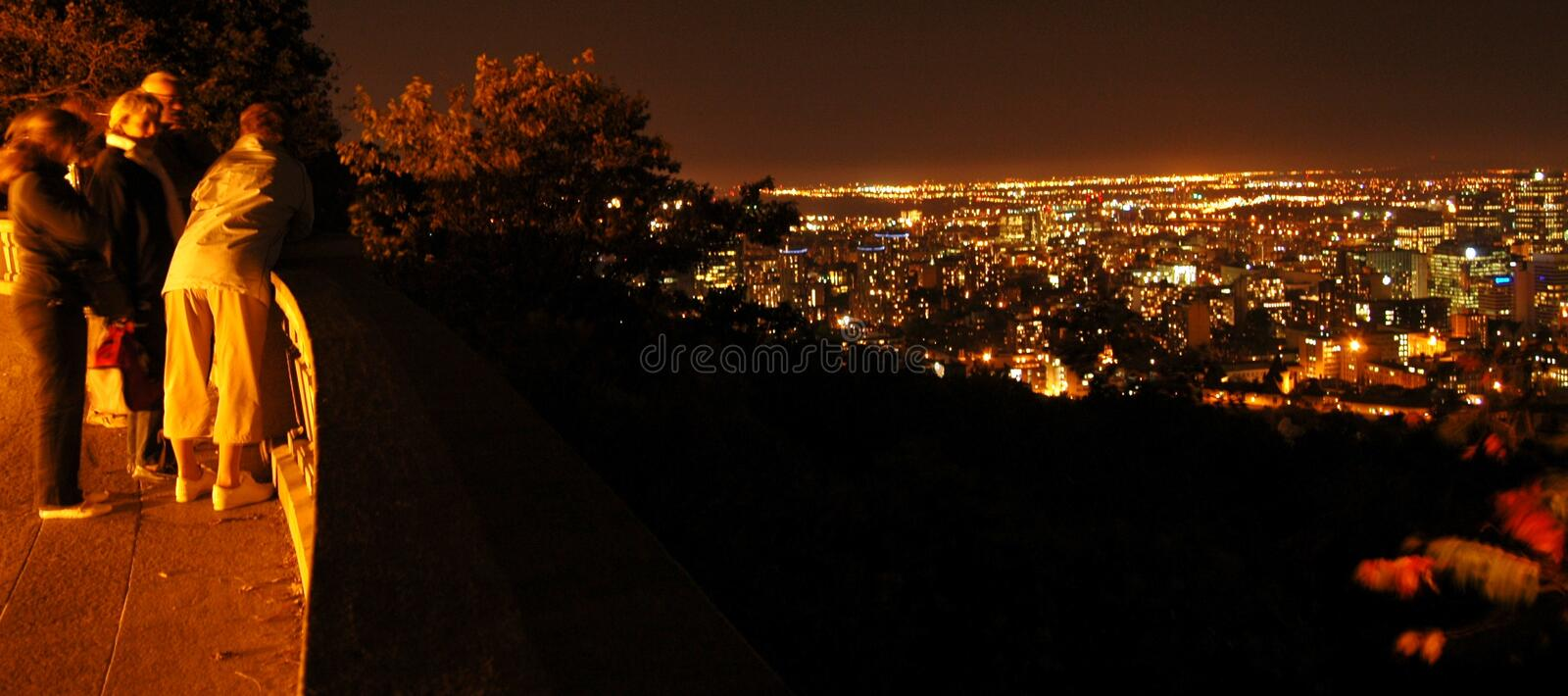 Montreal at night royalty free stock photos