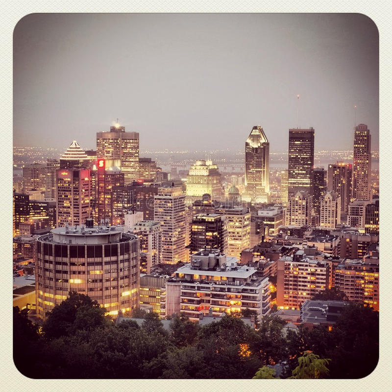 Download Montreal At Night Editorial Stock Photo - Image: 31802503