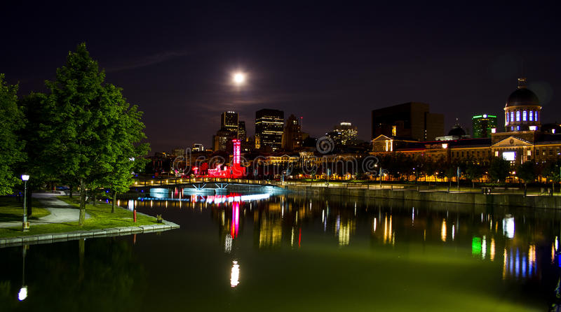 Montreal by night 2 royalty free stock images