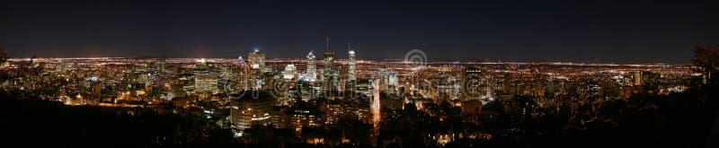 montreal noc panorama zdjęcie stock