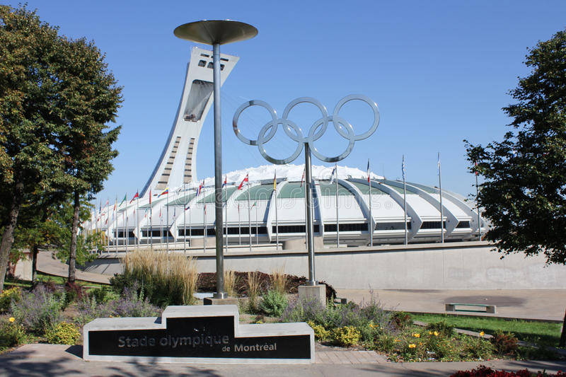 Montreal Olympic Stadium. royalty free stock images