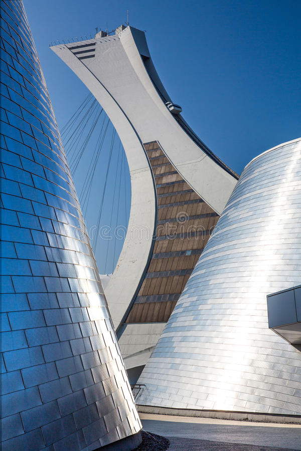 Montreal Olympic Stadium stock photos