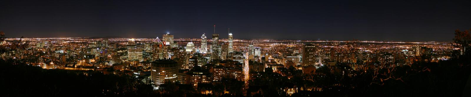 Download Montreal panorama by night stock photo. Image of centre - 9459620