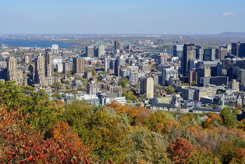 Montreal piękni widoki od Królewskiej góry obraz royalty free