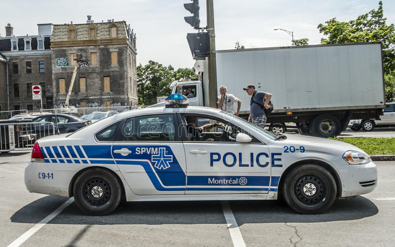 Montreal Police car stock images