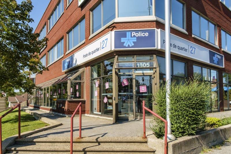 Montreal polisstation royaltyfri fotografi