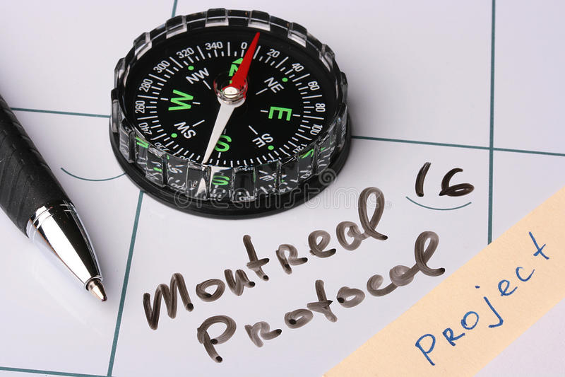 Montreal-Protokoll stockfotos