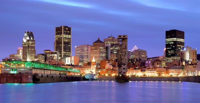 Montreal przy noc fotografia royalty free