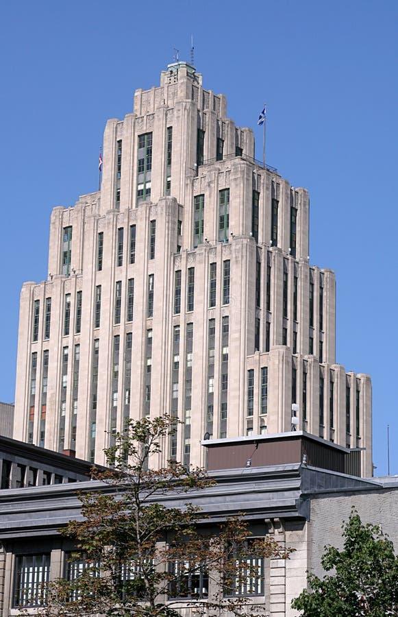 Montreal, Quebec, Canadá - 15 de julio de 2010: El edificio de Aldred en Montreal vieja imagen de archivo