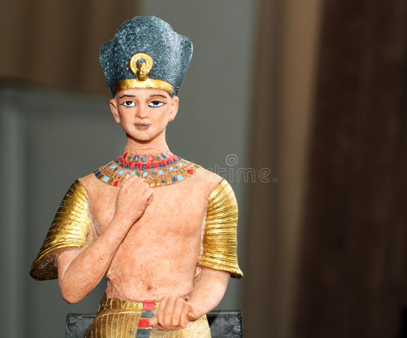 Ancient Egyptian Pharaoh Sculpture Statue stock images