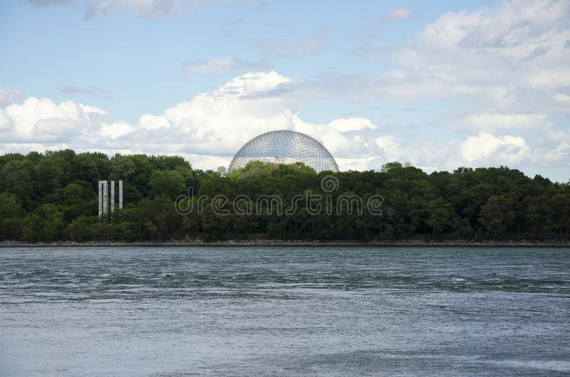 Montreal, Quebec, Canada - 17 July 2016: The Biosphere view from stock photography