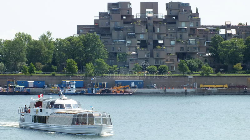 MONTREAL, QUEBEC, CANADA - JULY 31, 2013: A view of the Habitat 67 apartments in Montreal. Was built for Expo 67. stock image