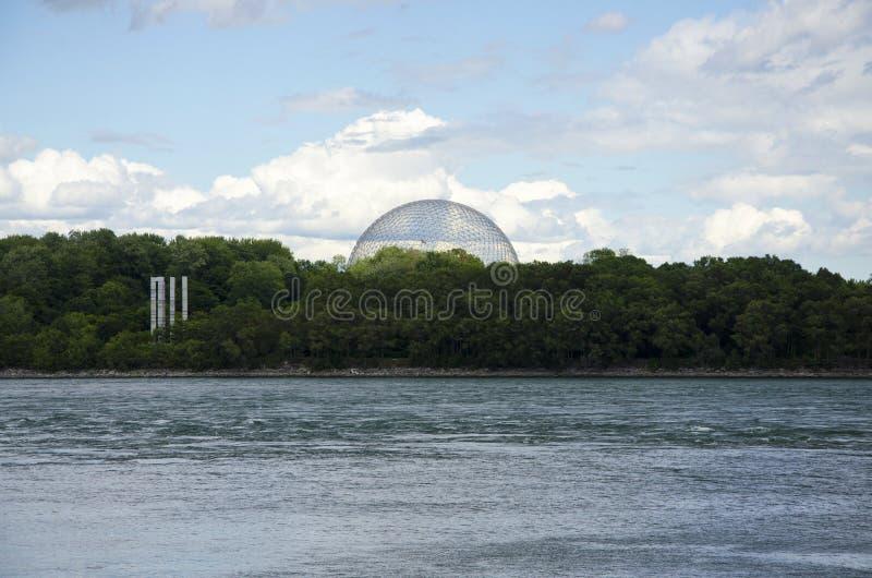 Montreal, Quebec, Canada - 17 luglio 2016: La vista di biosfera da fotografia stock