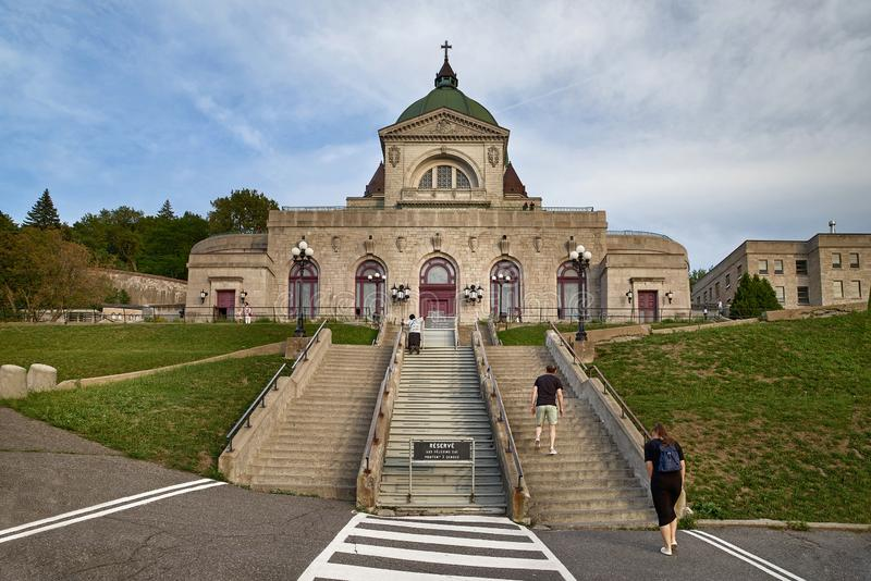 Montreal, Quebec, Canada, September 6, 2018: Saint Joseph`s Oratory of Mount Royal Oratoire Saint-Joseph du Mont-Royal royalty free stock photography